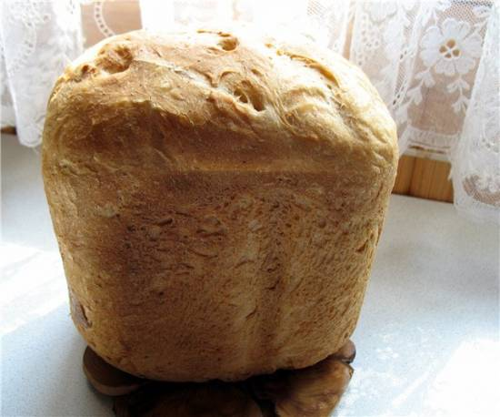 Простой хлеб с отрубями на картофельном отваре(хлебопечка)