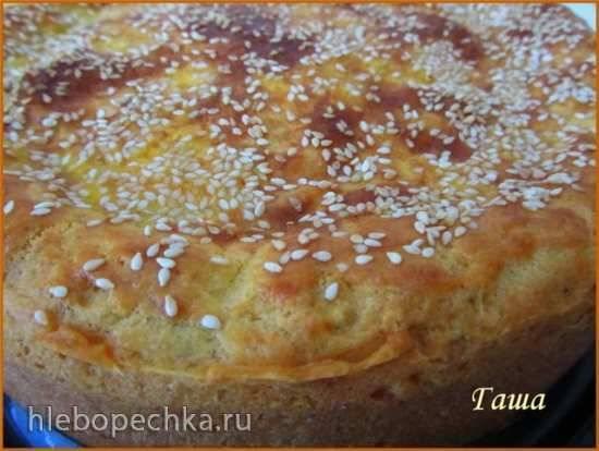 Пирог сырный с баклажанами (Балканский)