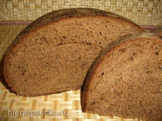 Хлеб цельнозерновой пшенично-ржаной на солоде, с брусничным джемом (духовка)