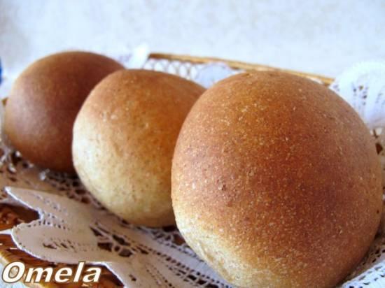 Булочки цельнозерновые пшенично-овсяные