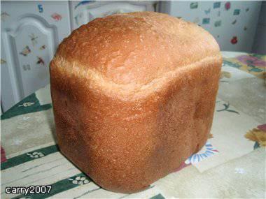 Пшеничный хлеб на твороге (хлебопечка)