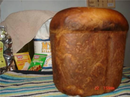 Японский молочный хлебушек (хлебопечка)