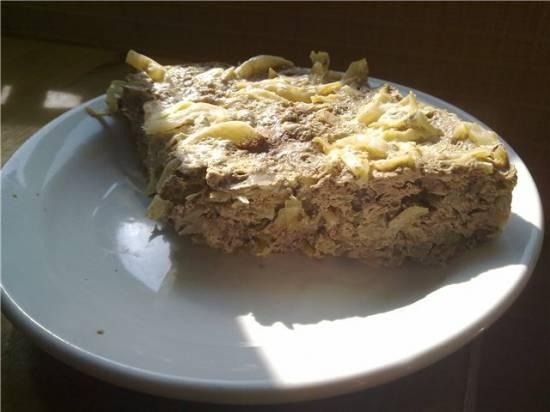 Печеночник с капустой в мультиварке