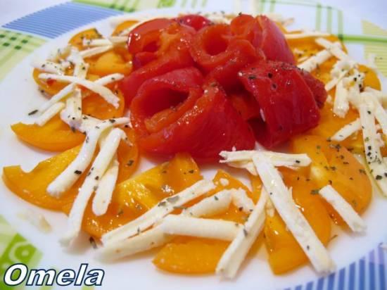 Салат теплый с перцем