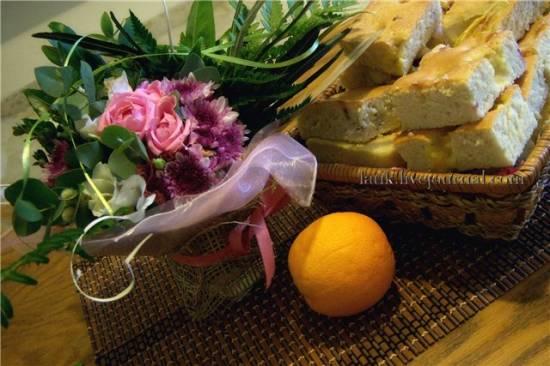Пирог с вишнями и апельсинами