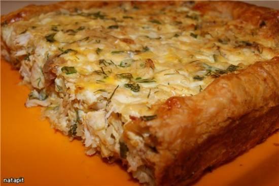 Пирог греческий с курицей (Хорьятики котопита)
