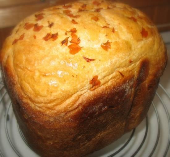Хлеб  уДачный  с лепестками тагетеса ( в хлебопечке)