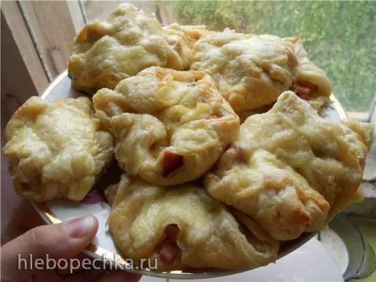 Пирожки слоеные с сыром