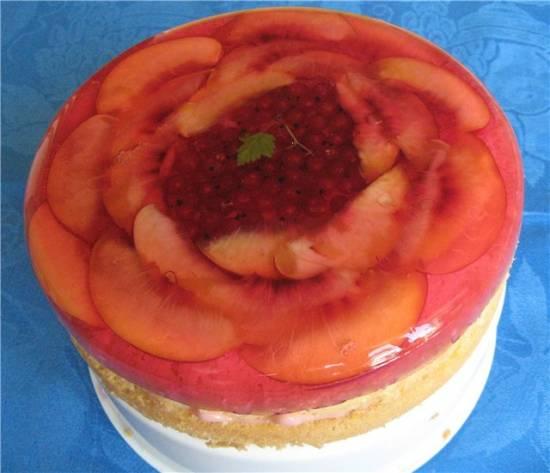 Бисквит с желе и фруктами (Panasonic SR-TMH 18)