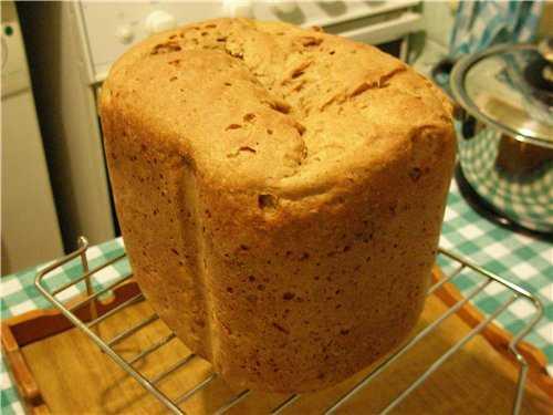 Ржано-пшеничный заварной хлеб в хлебопечке