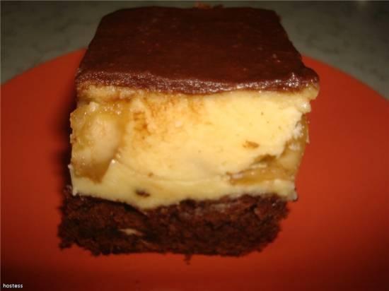 Бананово-шоколадное пирожное День и ночь
