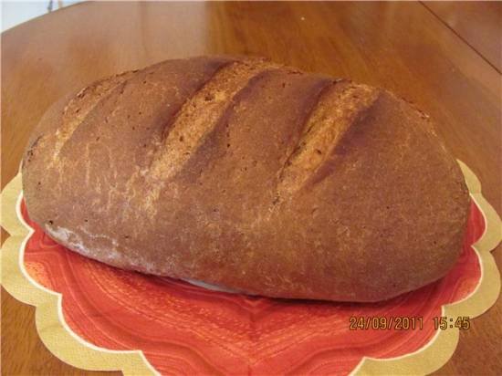 Пшенично-ржаной хлеб из трех видов муки Пшенично-ржаной хлеб из трех видов муки