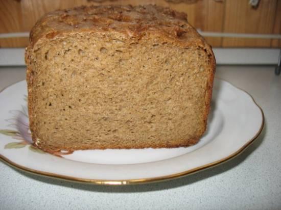 Хлеб ржаной заварной с расторопшей в хлебопечке