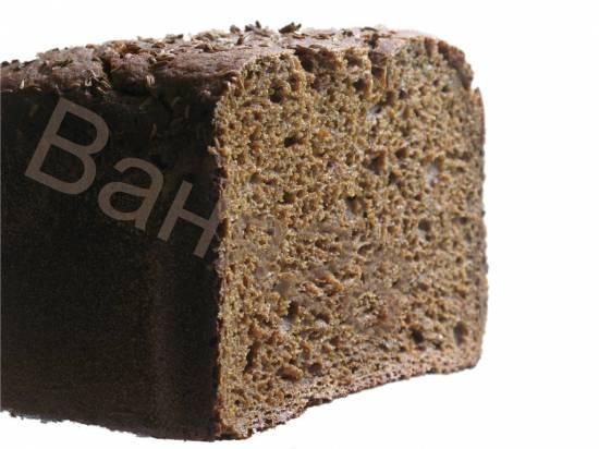 Бородинский хлеб из ржаного заварного хлеба