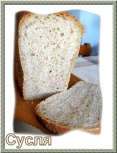 Хлеб цельнозерновой с семолой и льняным семенемХлеб цельнозерновой с семолой и льняным семенем