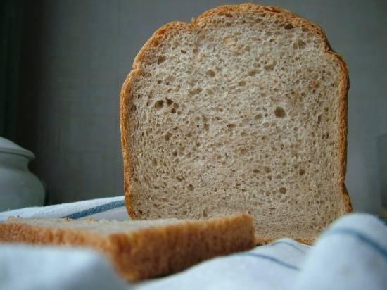 Хлеб пшеничный простой с гречневым ароматом (хлебопечка)