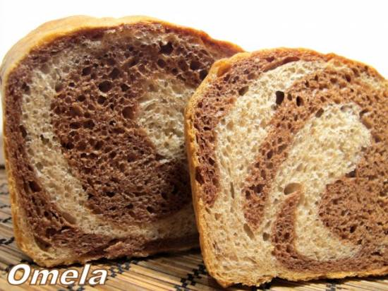 Хлеб пшенично-ржаной «МРАМОРНЫЙ»  (духовка)