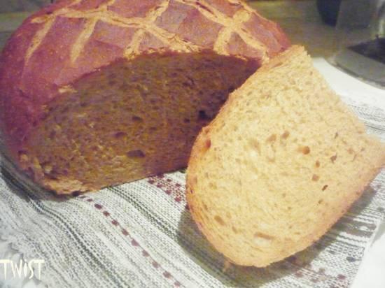 Хлеб пшенично-ржаной с цельнозерновой мукой (духовка)