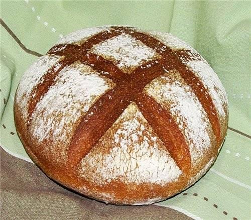 """Хлеб пшеничный """"Простой как основа"""" на Вендемийской закваске"""