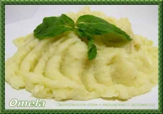 Картофельное пюре с сельдереем и пармезаном