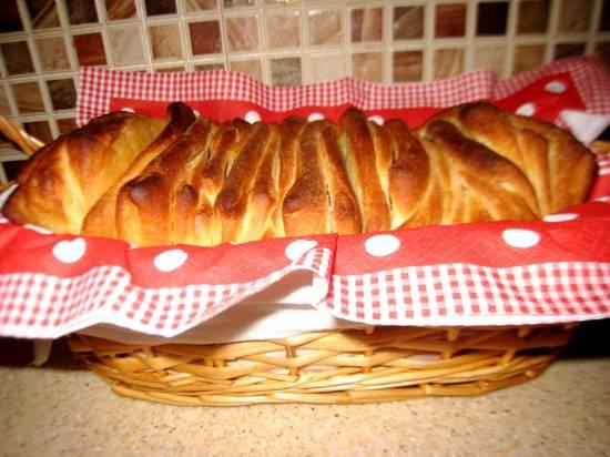 "Итальянский хлеб Pane al latte ""Fisarmonica"" в духовкеИтальянский хлеб Pane al latte ""Fisarmonica"" в духовке"