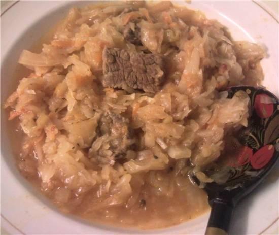 Капуста, тушенная с мясом для  Moulinex Minute Cook CE4000