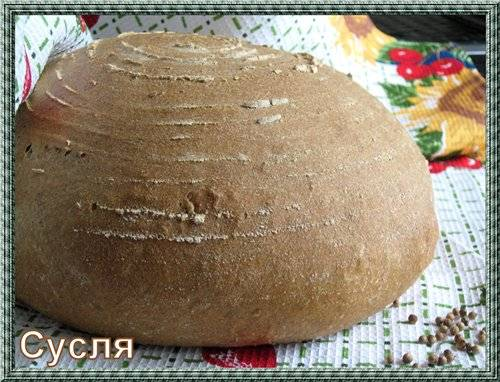 """Хлеб цельнозерновой """"Двадцатилетний"""" с кориандром."""