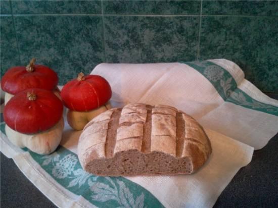 Пшенично-ржаной хлеб на закваске Пшенично-ржаной хлеб на закваске