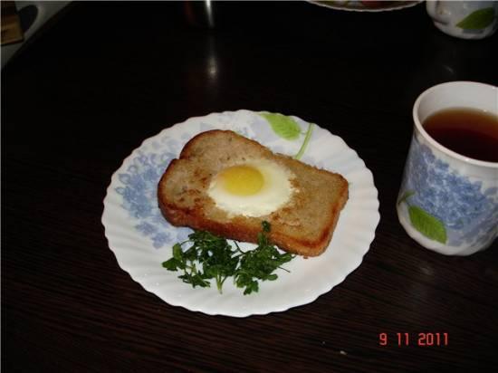 Омлет-яичница глазунья (два в одном) из перепелиных яиц