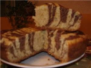 "Торт ""Зебра"" в мультиварке Panasonic"