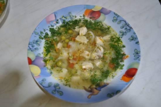 Куриный супчик с овощами(Cuckoo 1054) Куриный супчик с овощами(Cuckoo 1054)