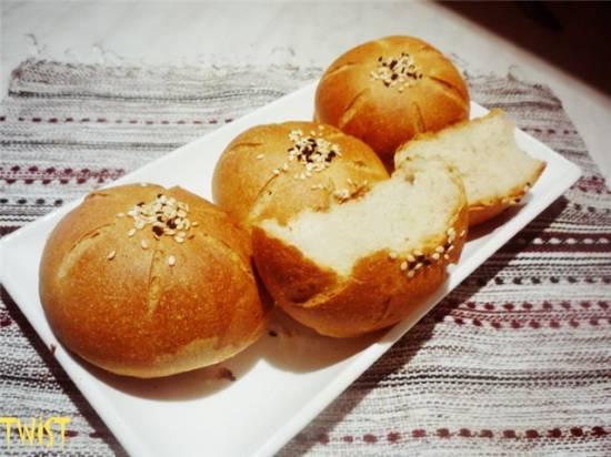 Булочки пшенично-ржаные