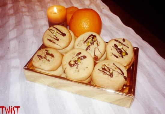 Апельсиново-фисташковое печенье