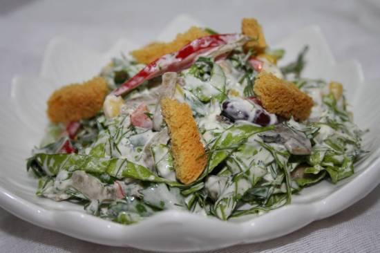 Овощной салат Пятиминутка