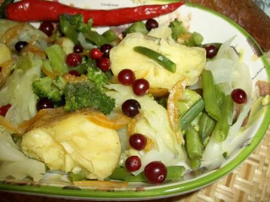 Овощи отварные под заправкой «Винегрет»