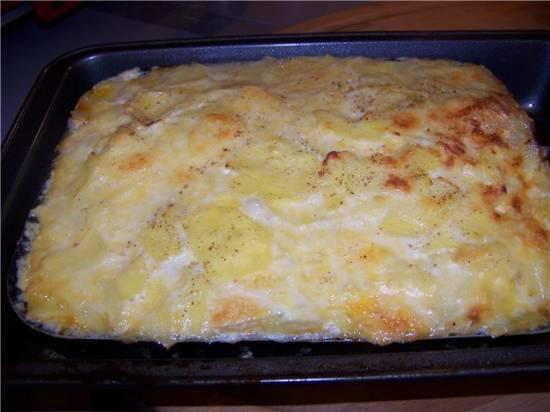 Картофельный гратен с мясным фаршем
