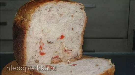 Хлеб пшеничный с яблоком, медом и орехами в хлебопечке