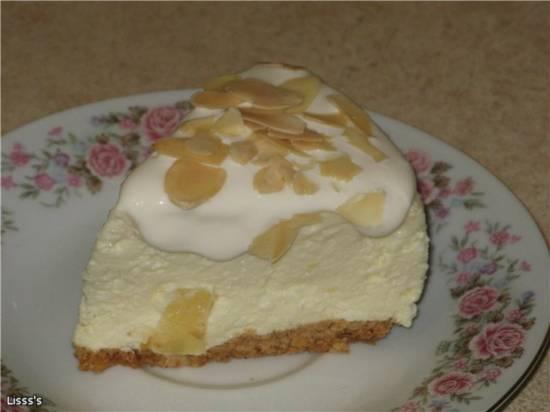 Творожно-ананасный холодный торт