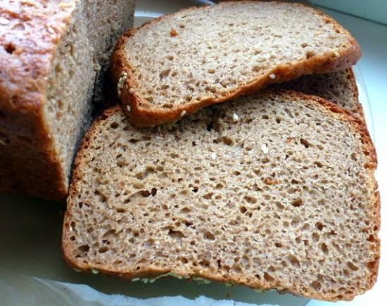 Ржано-пшеничный хлеб в хлебoпечке