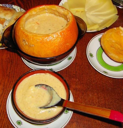 Сырный суп в тыковке (мультиварка Polaris International PMC 0512AD)