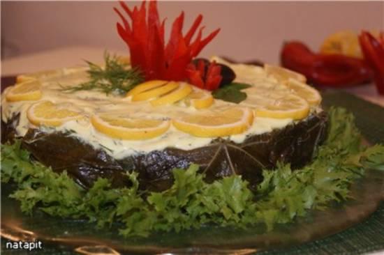 Мясной торт.