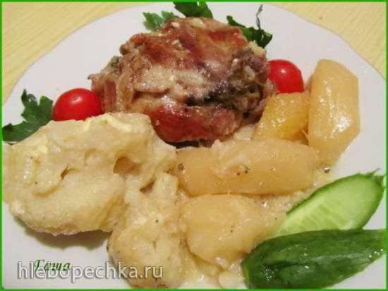 Курица с цветной капустой и картофелем в мультиварке Brand 502