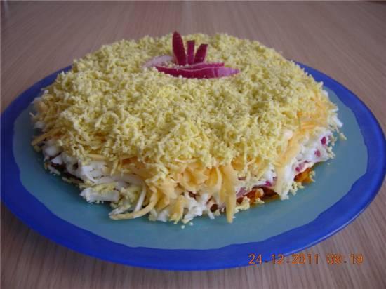 Сырный салат Нежность