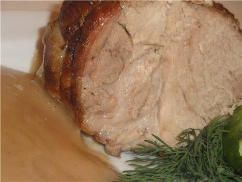 Свиная вырезка в маринаде.