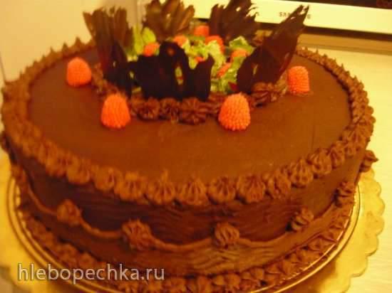 Торт муссовый шоколадно-малиновый