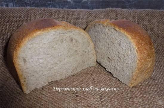 Деревенский хлеб на ржаной закваске в хлебопечке Деревенский хлеб на ржаной закваске в хлебопечке