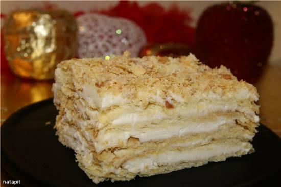 Крем заварной для торта Наполеон