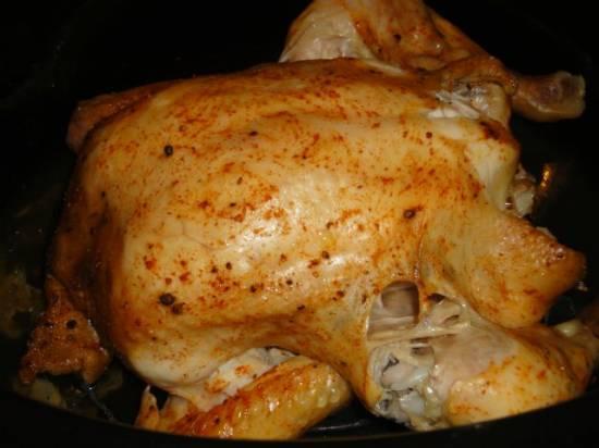 Курица, печеная на решетке