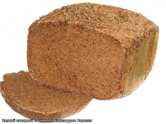Ржаной Заварной хлеб на Мёде с Тмином и Кориандром. Ржаной Заварной хлеб на Мёде с Тмином и Кориандром.