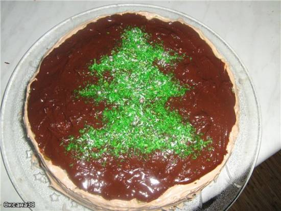 Торт ананасово-кокосовый с шоколадом